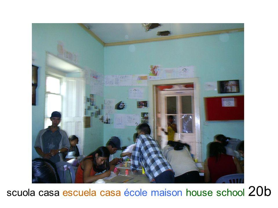 scuola casa escuela casa école maison house school 20b