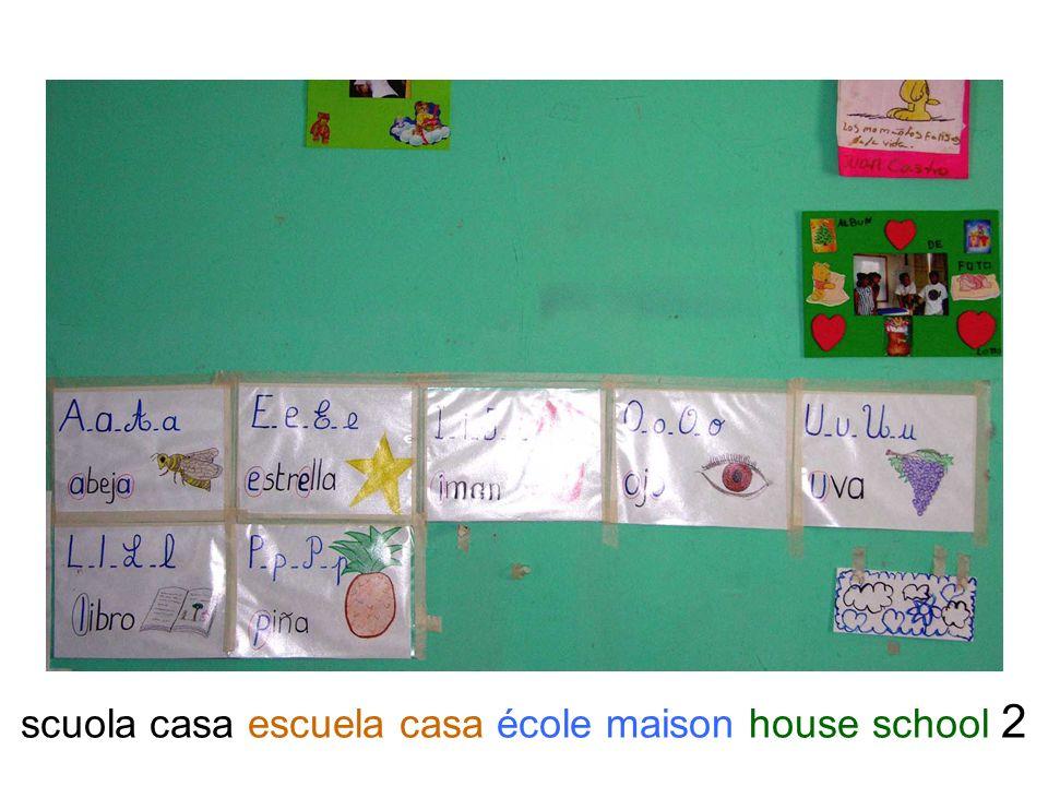 scuola casa escuela casa école maison house school 2