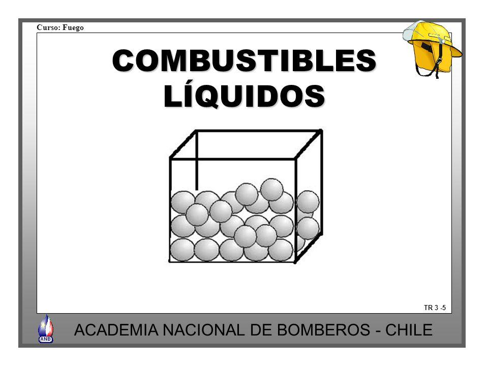 Curso: Fuego ACADEMIA NACIONAL DE BOMBEROS - CHILE TR 3 -5 COMBUSTIBLESLÍQUIDOS