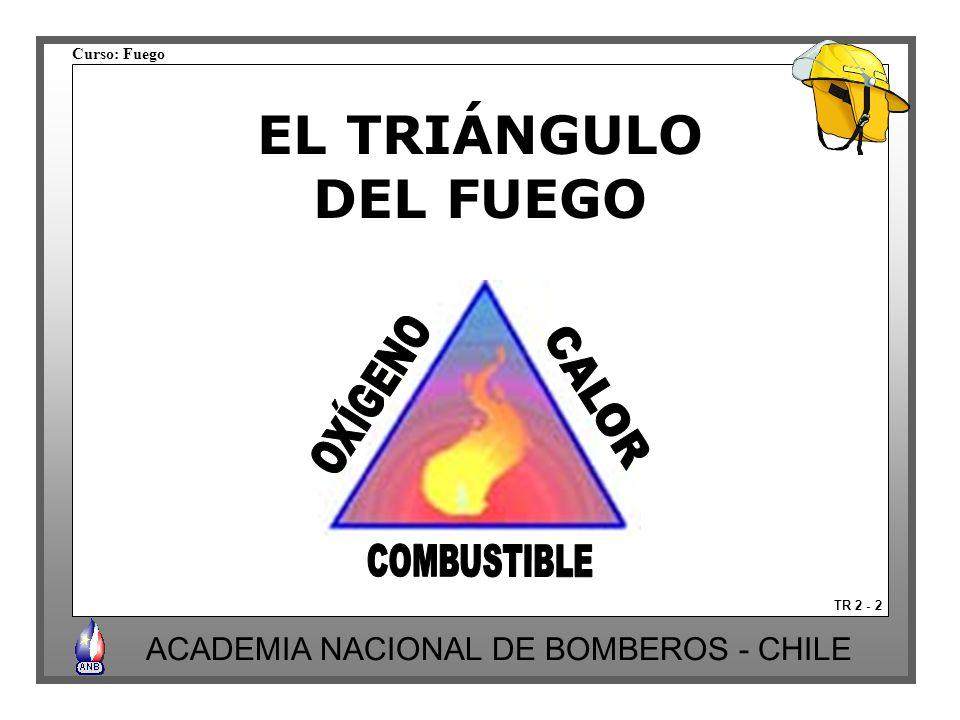 Curso: Fuego ACADEMIA NACIONAL DE BOMBEROS - CHILE POR INHIBICIÓN DE LA REACCIÓN EN CADENA TR 6 -21 Los extintores de polvo químico se emplean para cumplir esta finalidad.