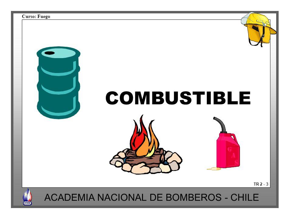 Curso: Fuego ACADEMIA NACIONAL DE BOMBEROS - CHILE Liquido inflamable: temperatura de Gasificación inferior a 37º C.