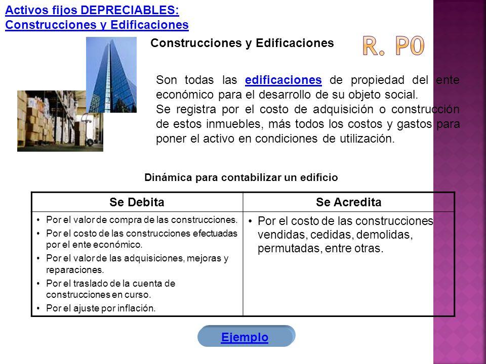 Activos fijos DEPRECIABLES: Construcciones y Edificaciones Construcciones y Edificaciones Son todas las edificaciones de propiedad del ente económico