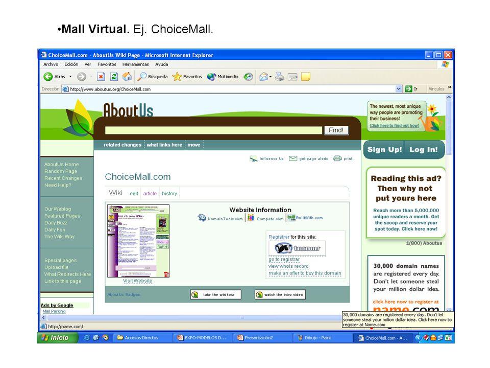 Mall Virtual. Ej. ChoiceMall.