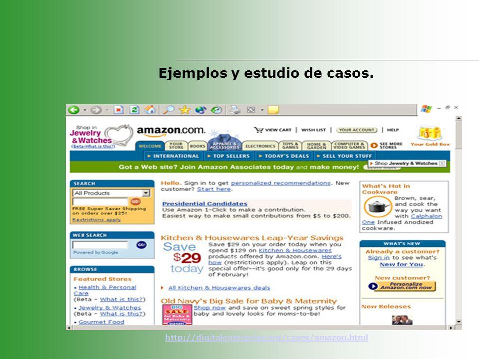 Ejemplos y estudio de casos. http://digitalenterprise.org/cases/amazon.html