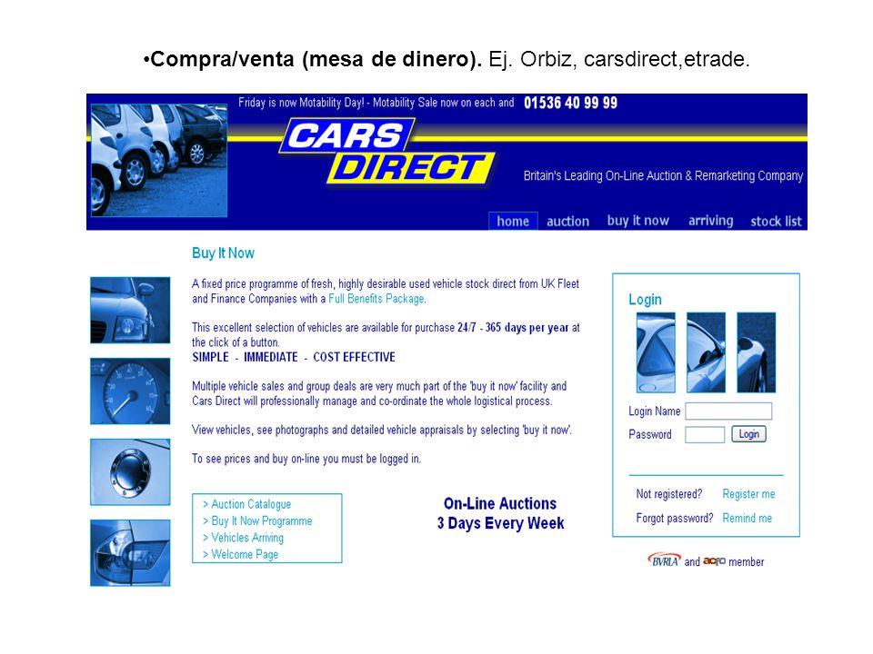 Modelo: Comerciante Este modelo, proporciona un sitio de web, que permite hacer vender bienes y servicios.