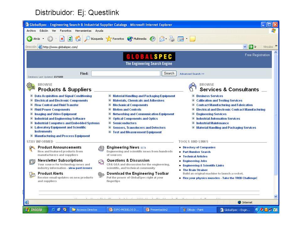 Distribuidor: Ej: Questlink