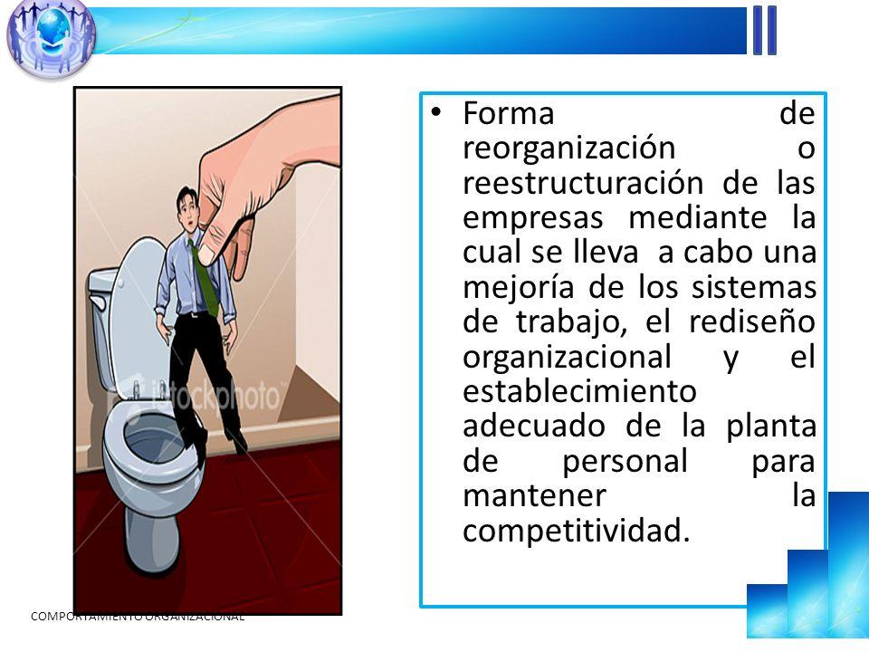 En strictu sensu significa una reducción de la planta de personal.