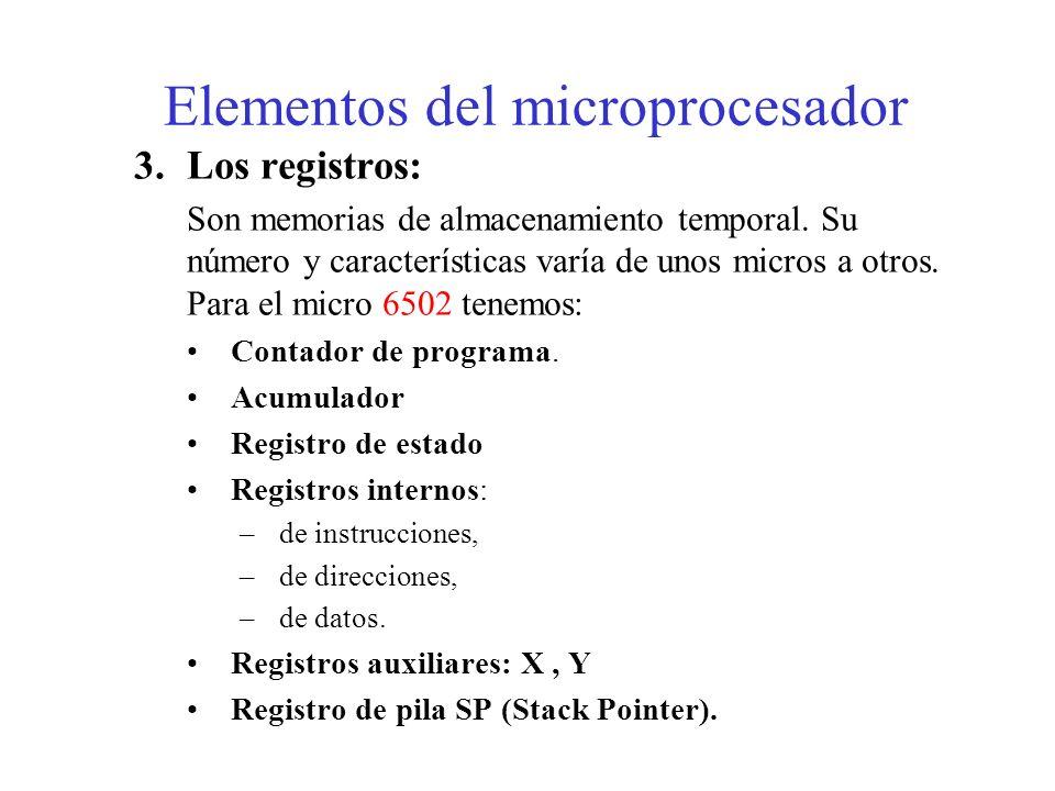 2.Unidad de control: Está formada por el decodificador de instrucciones y el control propiamente dicho. – Gobierna el funcionamiento del microprocesad