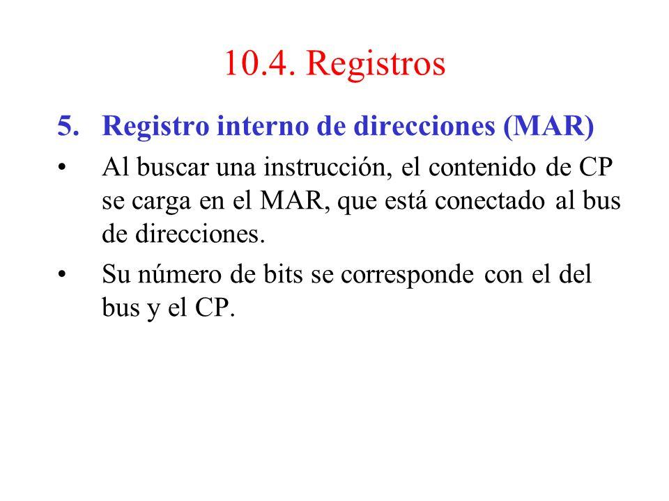 4.Registro interno de instrucciones (RI): Sirve para almacenar temporalmente el contenido de la posición de memoria direccionada por el CP, permitiend