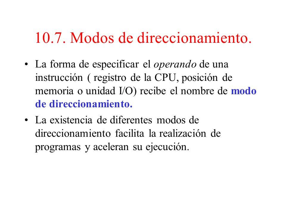 10.6. Secuencia de ejecución de un programa (3). La UC puede cargar el CP a otro valor distinto para alterar la secuencia normal del programa, atendie
