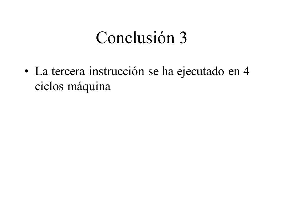 4º ciclo máquina de la 3ª instrucción: carga el dato en memoria. 1- El contenido del Acc (52H) se lleva al registro de datos. 2- El contenido del regi
