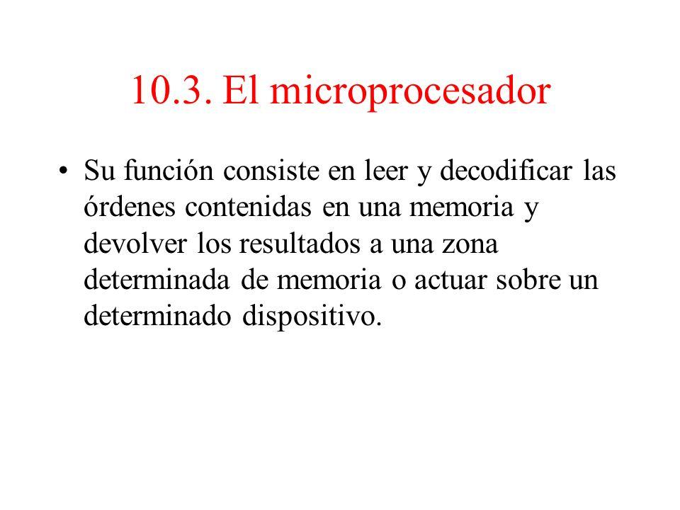 10.2. Ciclos de trabajo de un microprocesador Microprocesadores tipo Motorola: – Ciclo máquina = ciclo de reloj Microprocesadores tipo Intel: – Ciclo