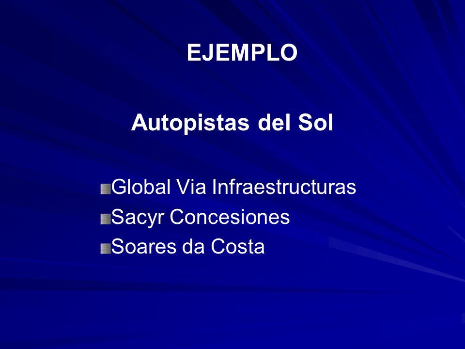 EJEMPLO Autopistas del Sol Global Via Infraestructuras Sacyr Concesiones Soares da Costa