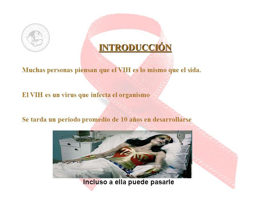 INTRODUCCIÓN Muchas personas piensan que el VIH es lo mismo que el sida. El VIH es un virus que infecta el organismo Se tarda un periodo promedio de 1