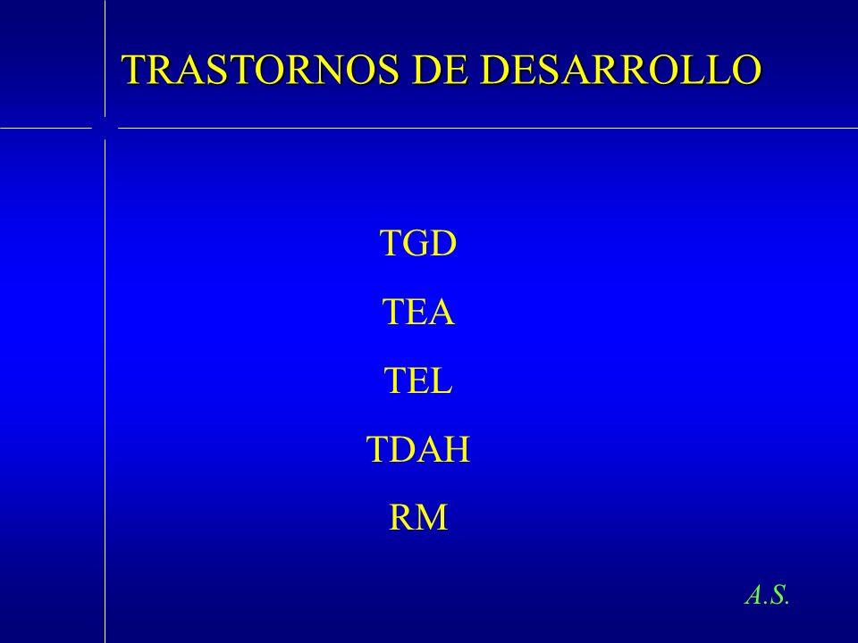 TRASTORNOS DE DESARROLLO TGD TEA TEL TDAH RM