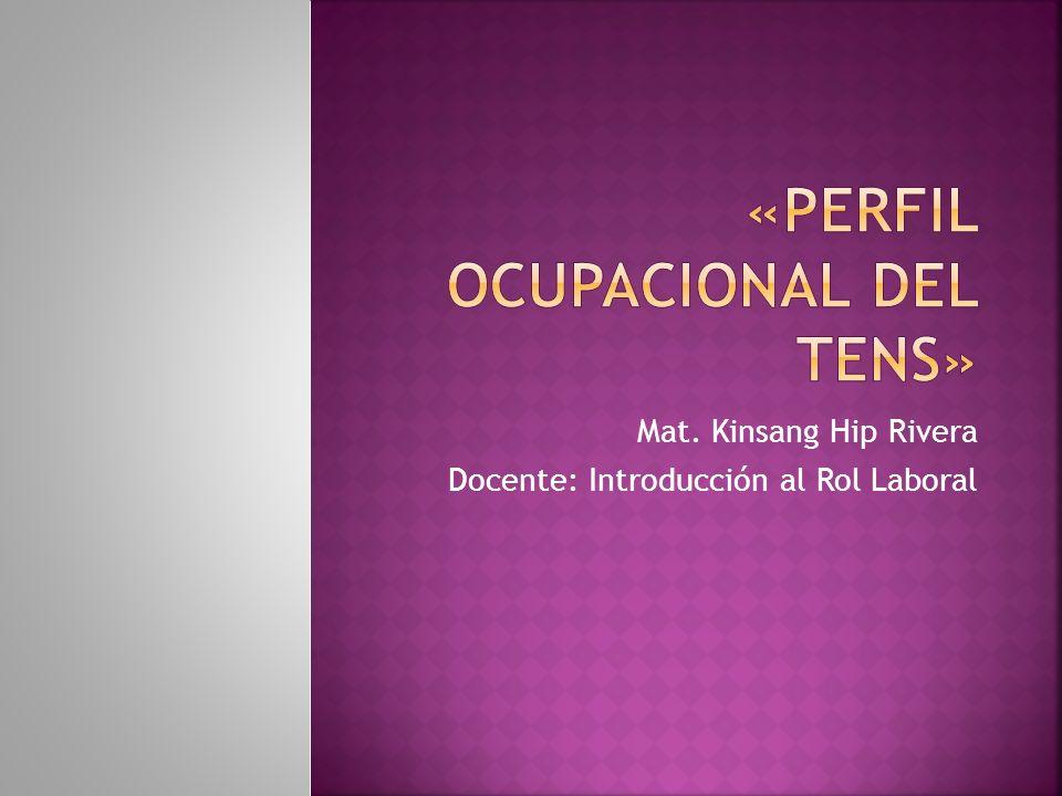 Mat. Kinsang Hip Rivera Docente: Introducción al Rol Laboral