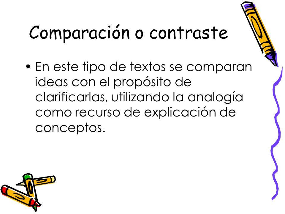 Causa- consecuencia. Este texto expositivo presenta, primeramente, las causas de algunas ideas, para luego exponer las consecuencias de las mismas.