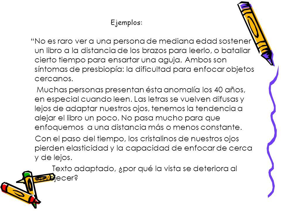 Estructura interna del discurso expositivo Orden deductivo: el tema se expone al inicio del texto y tiene carácter de idea general o definición. A con