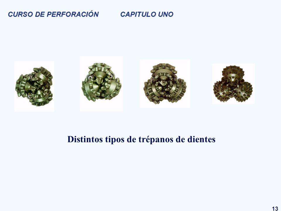 13 CURSO DE PERFORACIÓN CAPITULO UNO Distintos tipos de trépanos de dientes
