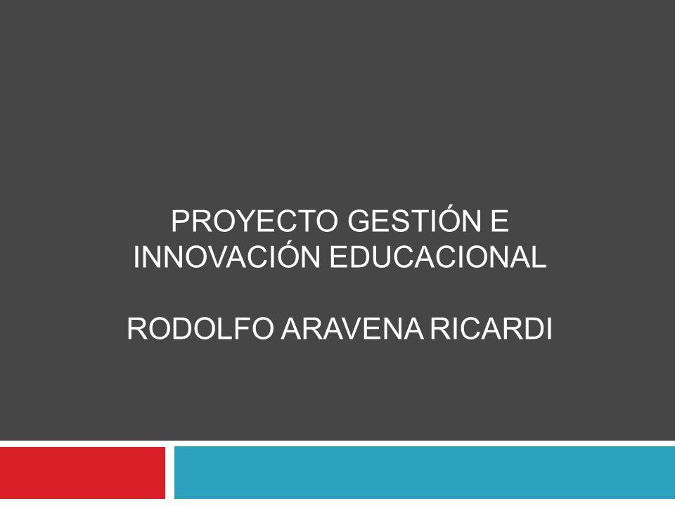 PROYECTO GESTIÓN E INNOVACIÓN EDUCACIONAL RODOLFO ARAVENA RICARDI