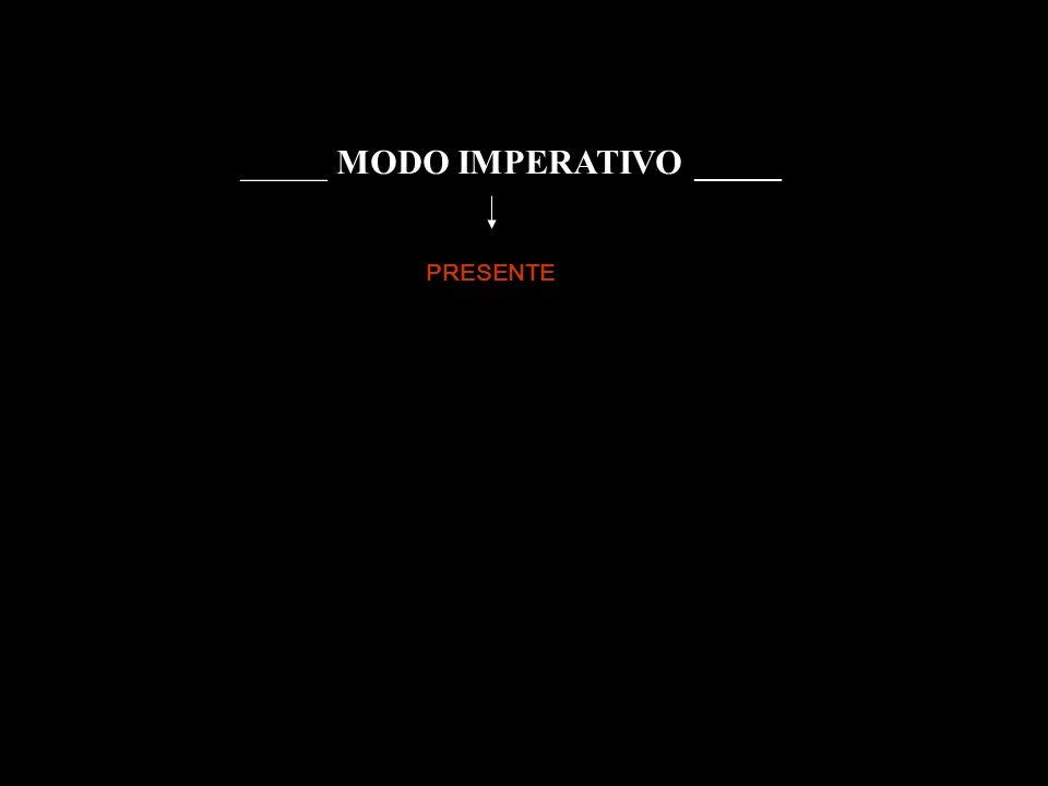 _____ MODO IMPERATIVO _____ PRESENTE