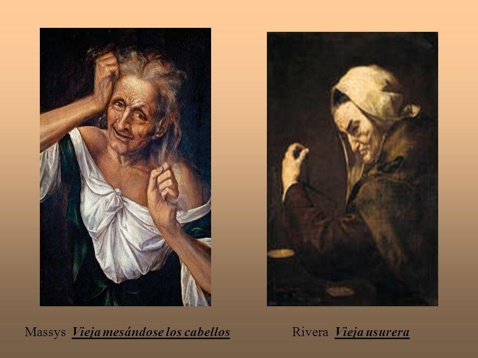 Massys Vieja mesándose los cabellos Rivera Vieja usurera