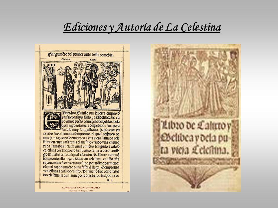 Ediciones y Autoría de La Celestina