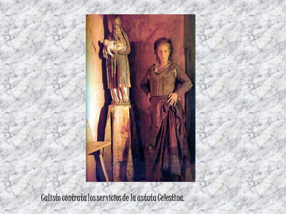 Calisto contrata los servicios de la astuta Celestina.