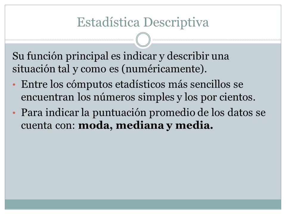 Su función principal es indicar y describir una situación tal y como es (numéricamente).
