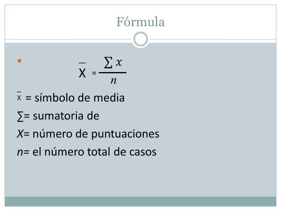 Fórmula __ X = _X_X
