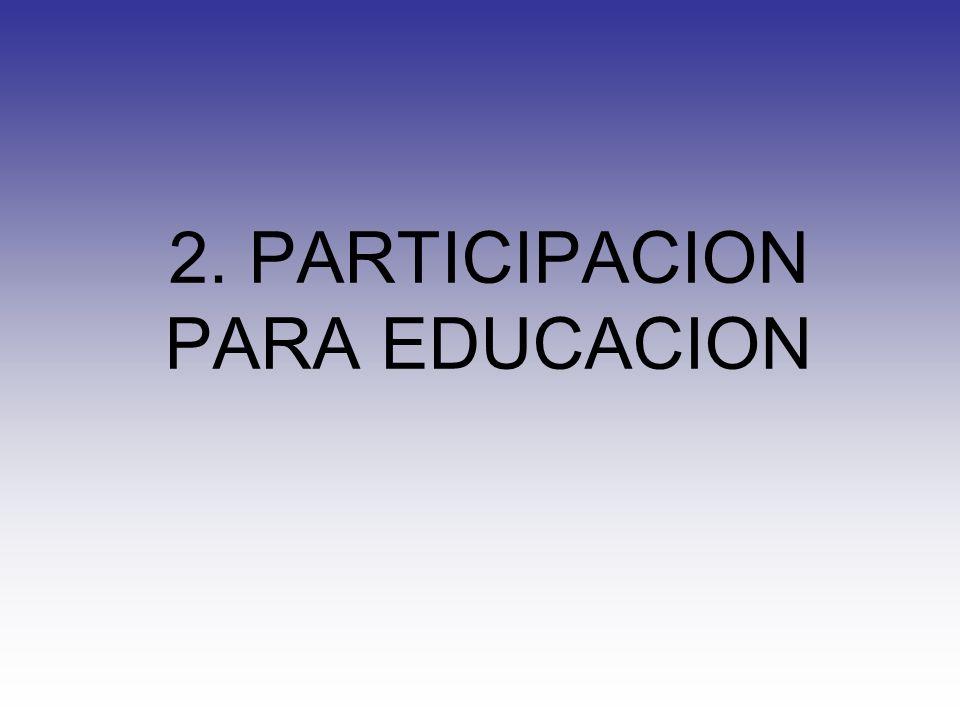 2. PARTICIPACION PARA EDUCACION