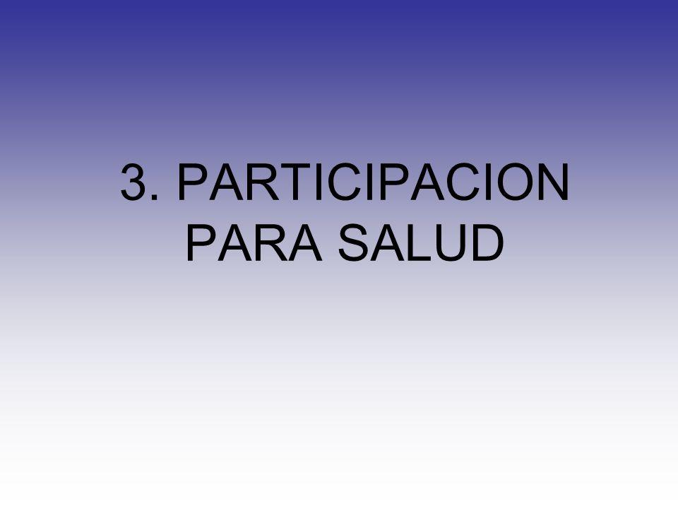 3. PARTICIPACION PARA SALUD