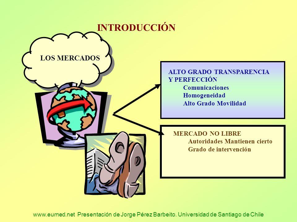 www.eumed.net Presentación de Jorge Pérez Barbeito. Universidad de Santiago de Chile INTRODUCCIÓN ALTO GRADO TRANSPARENCIA Y PERFECCIÓN Comunicaciones
