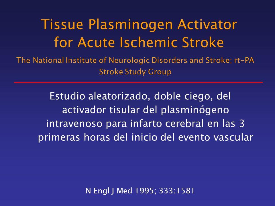 Tissue Plasminogen Activator for Acute Ischemic Stroke Estudio aleatorizado, doble ciego, del activador tisular del plasminógeno intravenoso para infa