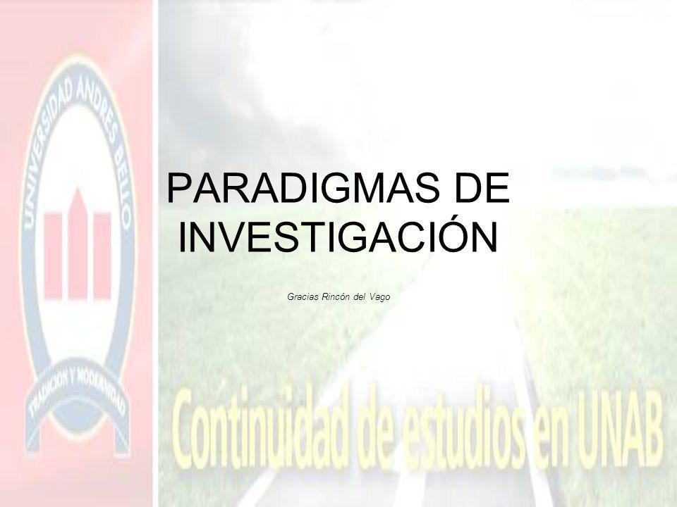 PARADIGMAS DE INVESTIGACIÓN Gracias Rincón del Vago