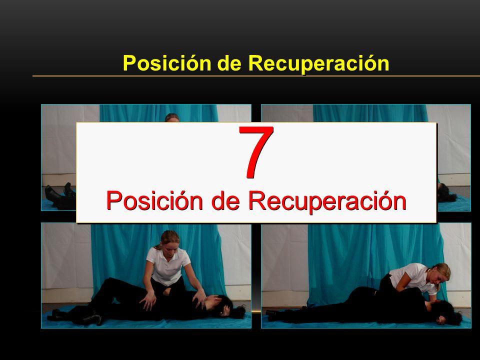 Posición de Recuperación 7 Posición de Recuperación 7 Posición de Recuperación