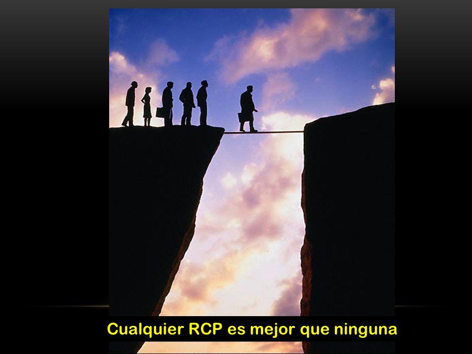 Cualquier RCP es mejor que ninguna Cualquier RCP es mejor que ninguna