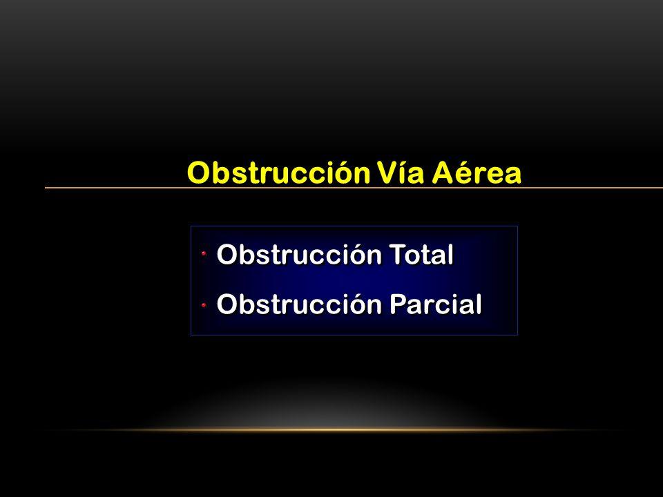 Obstrucción Total Obstrucción Parcial Obstrucción Total Obstrucción Parcial Obstrucción Vía Aérea