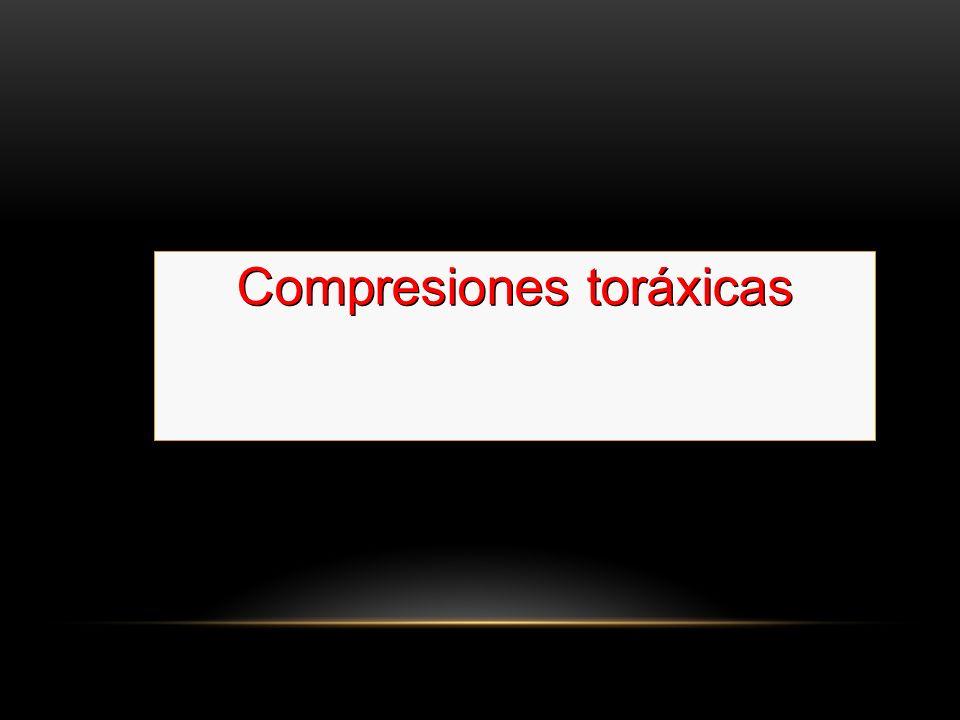 Si no tiene pulso comience con las 30 compresiones Compresiones toráxicas