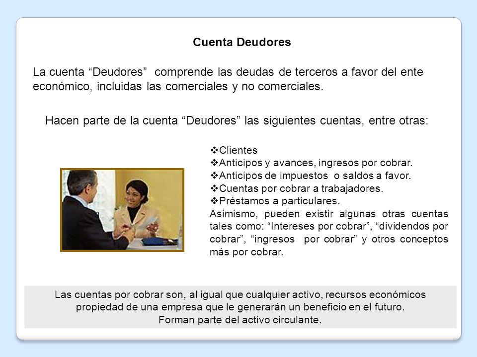 1.1 Cuenta clientes Se debitaSe acredita Por el valor de la venta de mercancías o servicios a crédito.