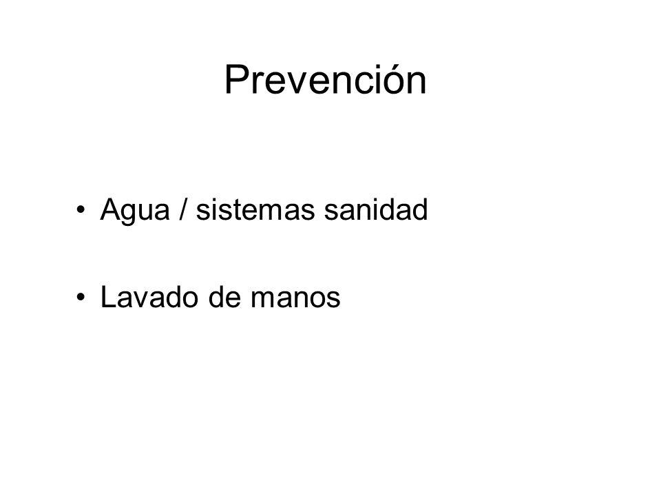 Prevención Agua / sistemas sanidad Lavado de manos