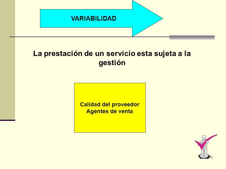 11 INSEPARABILIDAD Los objeto/bienes físicos producen, después almacenan, Vende y se consumen Proveedor cliente
