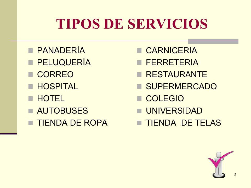 7 EL SERVICIO La empresa presta el servicio, en plazos y formas acordadas El consumidor recibe el servicio y cancela en la fecha establecida. CONSISTE