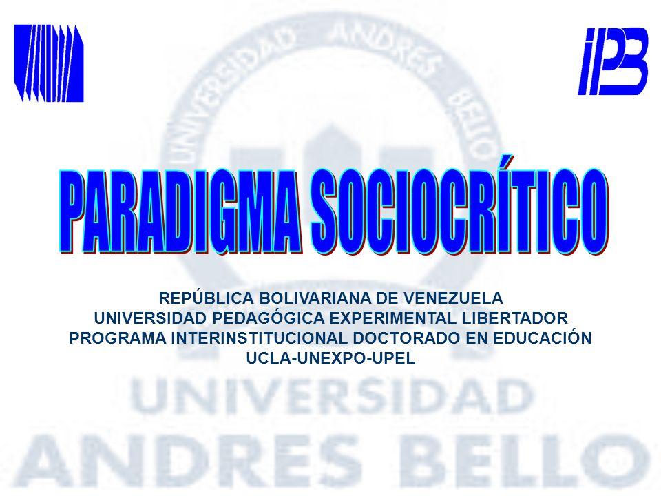 REPÚBLICA BOLIVARIANA DE VENEZUELA UNIVERSIDAD PEDAGÓGICA EXPERIMENTAL LIBERTADOR PROGRAMA INTERINSTITUCIONAL DOCTORADO EN EDUCACIÓN UCLA-UNEXPO-UPEL
