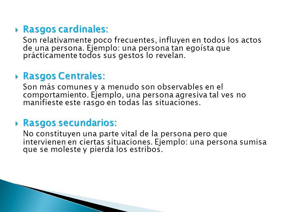 Análisis Factorial 16 factores consideraba la fuente de las conductas abiertas y formaban la personalidad.