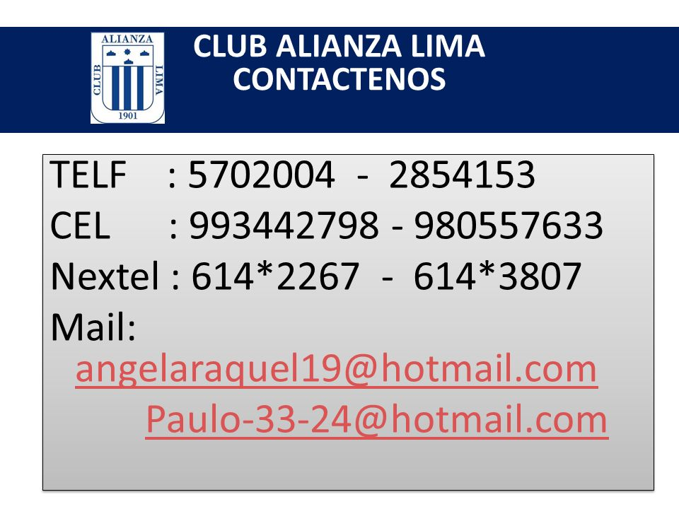 CLUB ALIANZA LIMA PROMOCION SI SE MATRICULA HASTA EL 24 DE DICIEMBRE TENDRA UN DESCUENTO DEL 10% SI SE MATRICULA HASTA EL 24 DE DICIEMBRE TENDRA UN DE