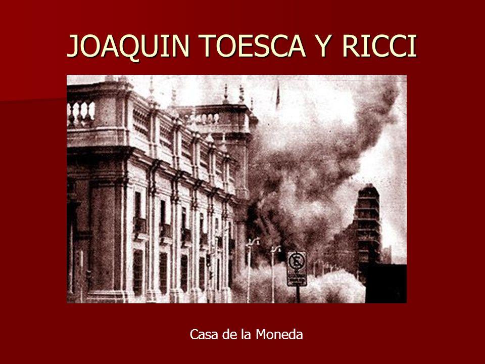 JOAQUIN TOESCA Y RICCI Casa de la Moneda