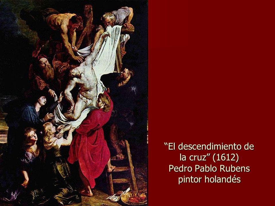El descendimiento de la cruz (1612) Pedro Pablo Rubens pintor holandés