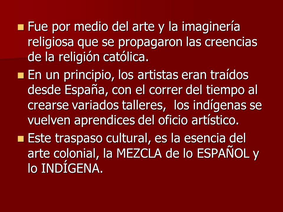 De la influencia de los jesuitas en Chile, surgen los primeros artistas propiamente nacionales: - Ambrosio Santelices (1734-1823) - Ignacio Andía y Varela (1757-1821)