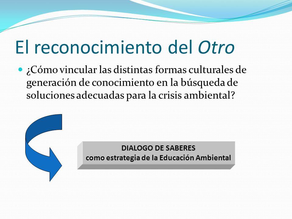 El reconocimiento del Otro ¿Cómo vincular las distintas formas culturales de generación de conocimiento en la búsqueda de soluciones adecuadas para la